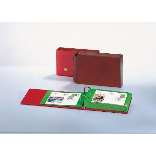 Album pour enveloppes et timbres + 20 feuilles - fond vert