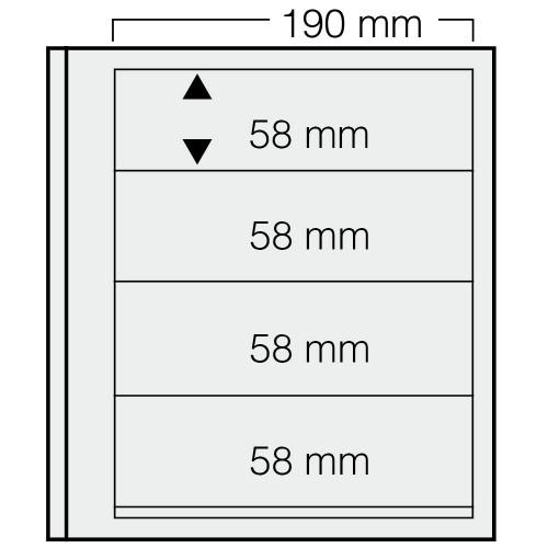 """Feuilles """"Spécial Dual""""- 4 Bandes - 58mm - Paquet de 5"""
