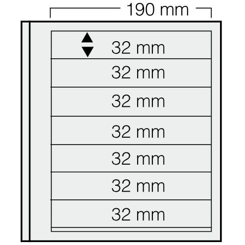 """Feuilles """"Spécial Dual""""- 7 Bandes - 32mm - Paquet de 5"""