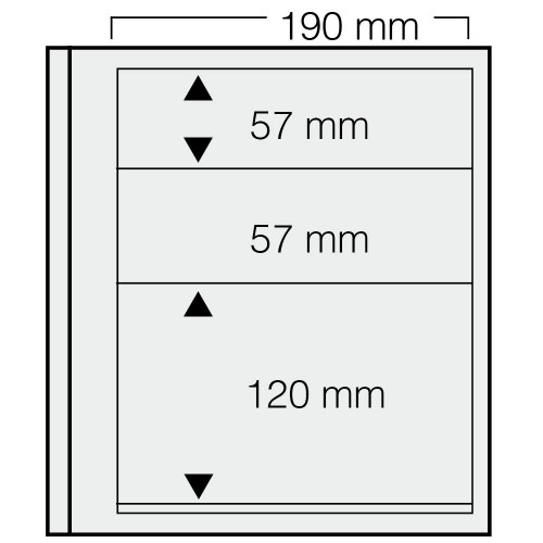 "Feuilles ""Spécial Dual""- 2x57mm,120mm - Paquet de 5"