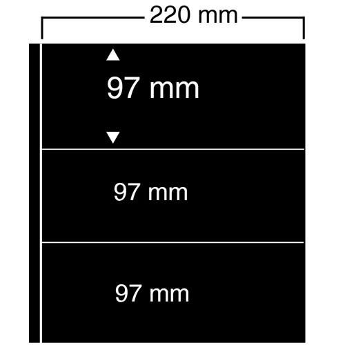"Feuilles ""Compact A4"" - 3 Bandes - Paquet de 10"