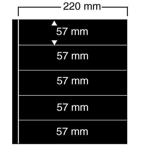 "Feuilles ""Compact A4"" - 5 Bandes - Paquet de 10"