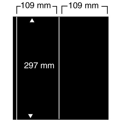 """Feuilles """"Compact A4"""" - 2 Bandes verticales - Paquet de 10"""