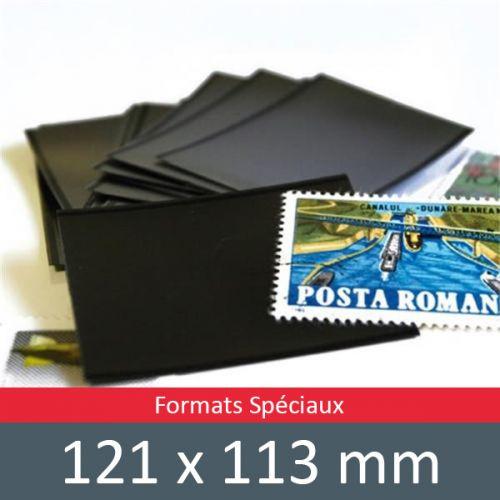Pochettes simple soudure - Lxh:121x113mm (Fond noir)