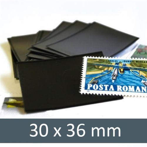 Pochettes double soudure - Lxh:30x36mm (Fond noir)