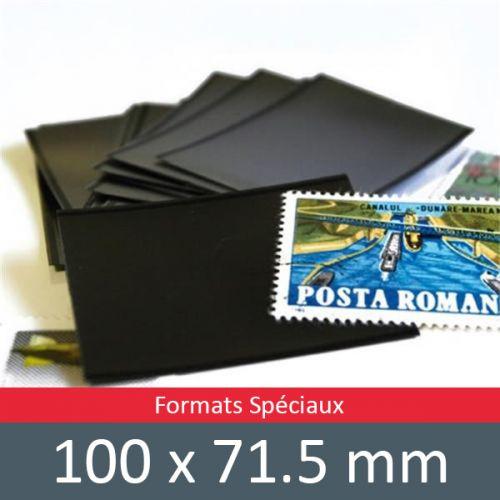 Pochettes double soudure - Lxh:100x71.5mm (Fond noir)