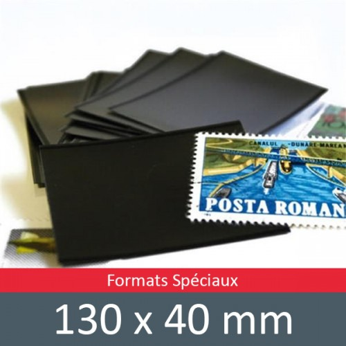 Pochettes double soudure - Lxh:130x40mm (Fond noir)