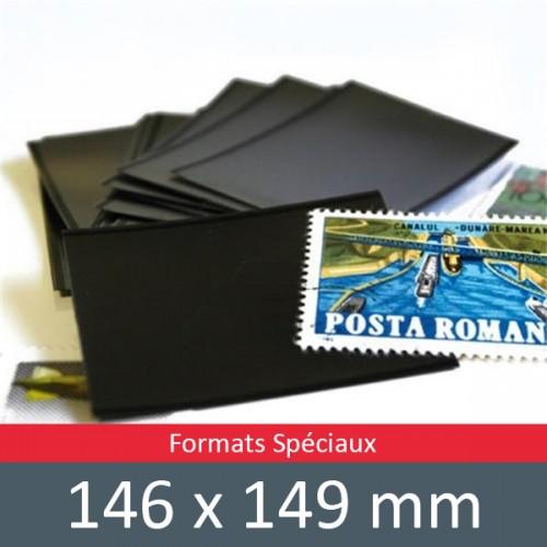 Pochettes double soudure - Lxh:146x149mm (Fond noir)