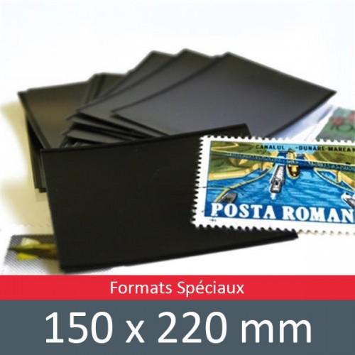 Pochettes double soudure - Lxh:150x220mm (Fond noir)