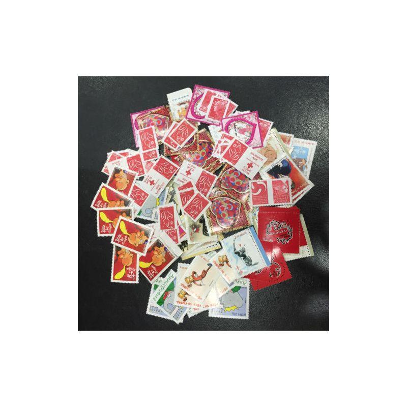 Lot de faciale 100 timbres TVP Rouge (Lettre Prioritaire 20g)