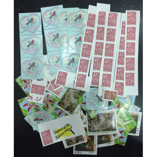 Lot de faciale 100 timbres de 0,82€ (82€)