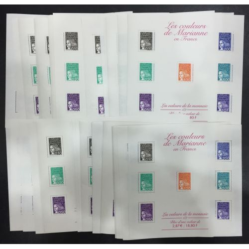 Lot de faciale 45 timbres de 2,87€/18,80F (129,15€) en Blocs
