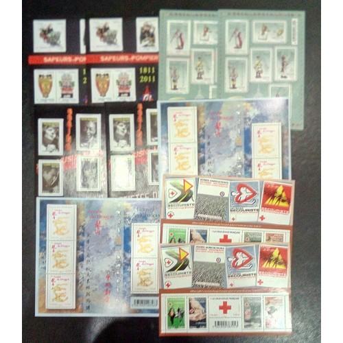 Lot de faciale 100 timbres de 0,60€ (60€) en blocs pour affranchissement
