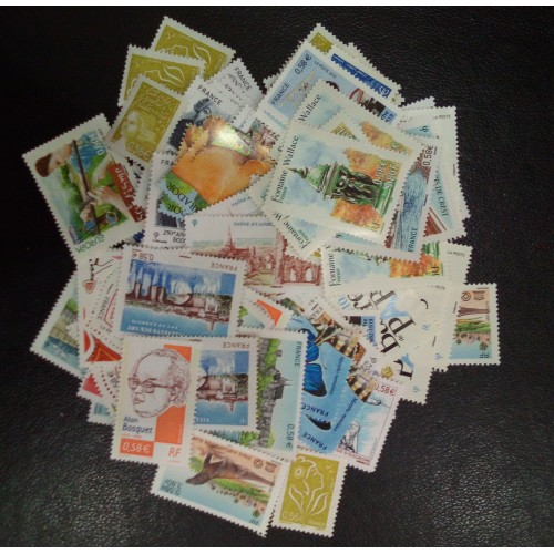 Lot de faciale 100 timbres de 0,58€ (58€)