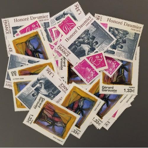 Lot de faciale 66 timbres à 1,33€ pour Affranchissement
