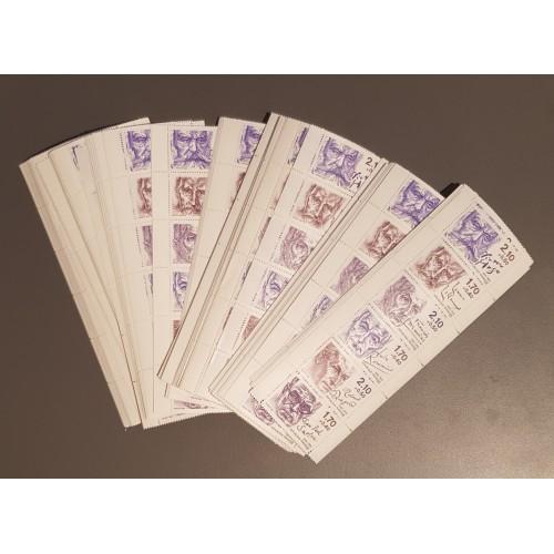 Lot de faciale 100 timbres à 11,20 Francs pour Affranchissement