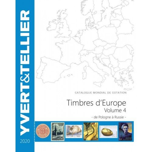 Timbres d'Europe - TOME 2020 - Volume 4 - P à R